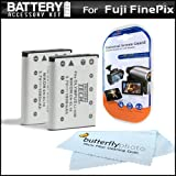 2 Pack Battery Kit For Fuji Fujifilm Instax Mini 90 Neo Classic Instant Film Camera, FinePix Z900EXR, XP50, T400, T350 Camera Includes 2 Extended (1100Mah) Replacement For Fuji NP-45A Battery + MORE