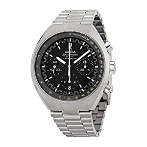 Omega Speedmaster Mark II - Reloj (Reloj de Pulsera, Masculino, Acero, Negro, Luz metálico, Acero, Luz metálico) 10