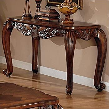 amazon com coaster victoria traditional warm brown sofa table rh amazon com traditional sofa table decorating ideas doyle traditional sofa table with glass inlay top