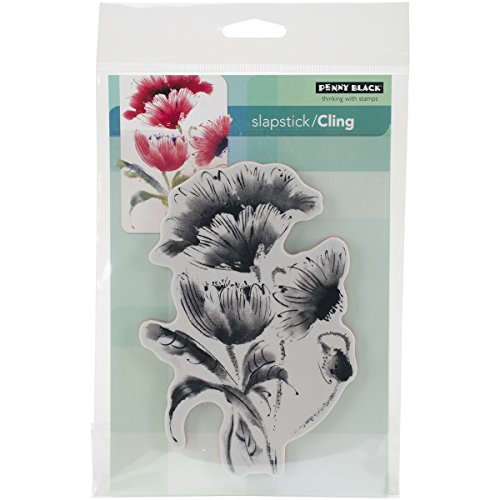 Penny Black 40-330 Pop Pop Poppy Slapstick Cling Stamp (Stampers Best Cling Cushion)