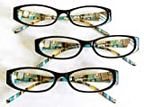 "Best Foster Grant Eye Glasses - (3 PAIR+ BONUS) Foster Grant ""AUGUSTINA"" +2.00 Reading Review"