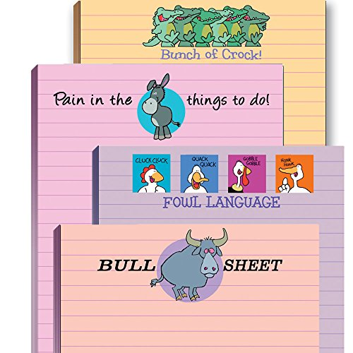 Funny Adult Note Pad Assorted Pack - 4 Pads (Best Gifts For Office Colleagues)