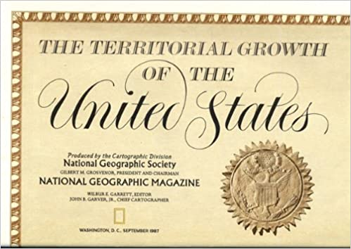 Us Map Certification.National Geographic United States Territorial Growth Ng Usa