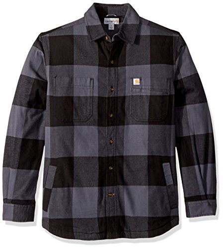 (Carhartt Men's Rugged Flex Hamilton Fleece Lined Shirt, Bluestone, X-Large)