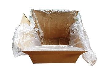 (Paquete de 200) HDPE 60 x 20 x 74 cm, 12 micrones almohadillas para cajas, bolsas ...