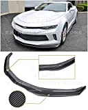 Extreme Online Store Replacement for 2016-2018 Chevrolet Camaro RS   EOS T6 Style Carbon Fiber Add On Front Bumper Lower Lip Splitter FLIP-167-BKCF