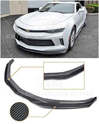 Extreme Online Store for 2016-2018 Chevrolet Camaro LS/LT/RS Models | EOS T6 Style Front Bumper Lower Lip Spoiler Splitter (Carbon Fiber)