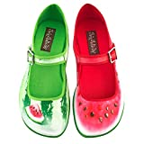 Hot Chocolate Design Chocolaticas Patilla Women's Mary Jane Flat Multicoloured HCD 38
