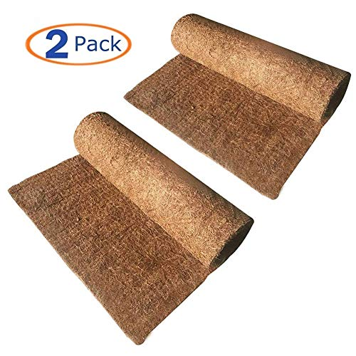 Hamiledyi Reptile Carpet Natural Coconut Fiber Tortoise Carpet Mat for Pet Terrarium Liner Reptile Supplies for Lizard Snake Chamelon Turtle Bedding Bunny Rabbit Mat (2sheets) from Hamiledyi