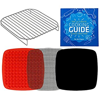 Air Fryer Rack Accessories Compatible with Cosori, Cuisinart, GoWise, Instant Pot Vortex, Costway, Geek Chef, Caynel, Aaobosi, Soing, Ergo Chef, ChefWave, Kalorik, Best Choice Products +More