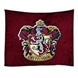 AMNYSF Gryffindor College Badge in Harry Potter Movie Tapestry Wall Hanging Magic School Logo Decor Dark Red Tapestries for Bedroom Living Room Dorm 59X59 Inch