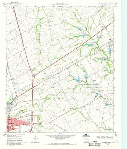 Texas Maps | 1966 Hillsboro East, TX USGS Historical Topographic Map |Fine Art Cartography Reproduction - Map Hillsboro Tx