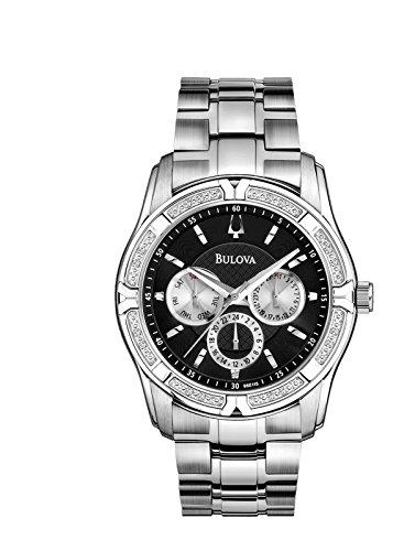 Bulova Diamond Accent Watch (Bulova Men's 96E115XG Quartz Diamond Accents 42mm Watch (Certified Refurbished))