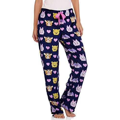 Winnie the Pooh Women's License Pajama Super Minky Plush Fleece Sleep Pant Large (Adult Disney Characters)