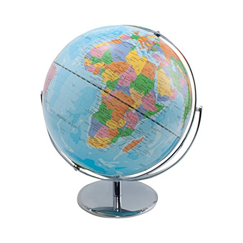 Advantus 12 Inch Desktop World Globe with Blue Oceans - Desk Advantus