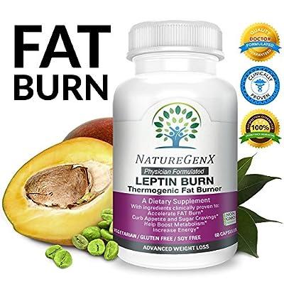 NatureGenX - Leptin Burn ~ Thermogenic Fat Burner, Non Stimulant Fat Burner | Clinically Proven~Advanced Fat Loss & Boost Metabolism Dietary Supplement | Physician Formulated | Non-GMO | 60 V-Caps