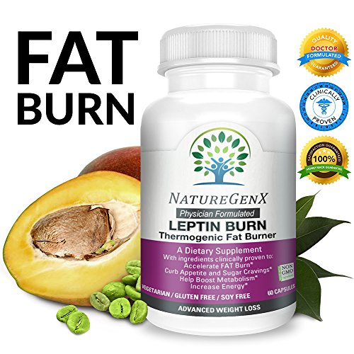 NatureGenX - Leptin Burn ~ Thermogenic Fat Burner, Non Stimulant Fat Burner | Clinically Proven~Advanced Fat Loss & Boost Metabolism Dietary Supplement | Physician Formulated | Non-GMO | 60 V-Caps