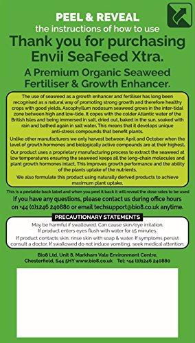 Envii Seafeed Xtra - Abono/Fertilizante y Potenciador de Crecimiento Orgánico Premium de Algas Marinas Liquido (5L): Amazon.es: Jardín