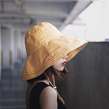 Headdress Sombrero Grande De Color Sólido 檐 Sombrero De Pescador Sombrero  De Pescador Simple De Algodón 5e528e4c6a9