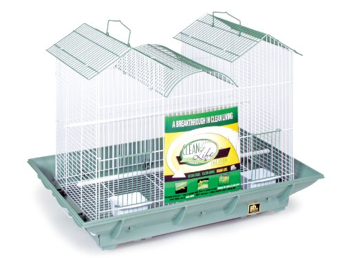 Prevue Pet Products Clean Life Triple Roof Cage, Green and White by Prevue Hendryx