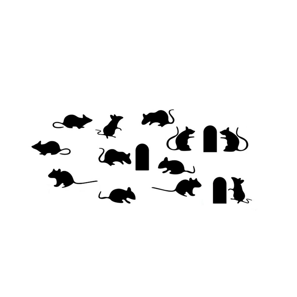 Cartoon Mice Stickers Pasters Decals for Children Craft Projects Classroon Bedroom Stairs Wall Decoration 32 x 75cm VORCOOL