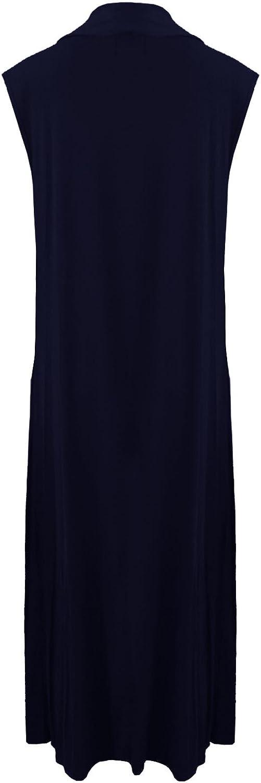 Gilet Polyvalent Long Pull Ouvert, Janisramone Nouveau Femme Gilet Long /él/égant sans Manches
