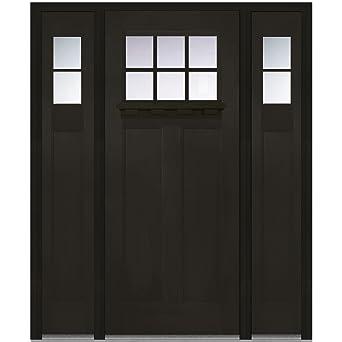 National Door Company Z006304L Fiberglass Fir, Espresso, Left Hand  In Swing, Exterior