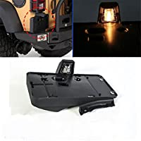 FMtoppeak Rear License Plate Mounting Bracket Holder With Light For 2007-2016 Jeep Wrangler JK