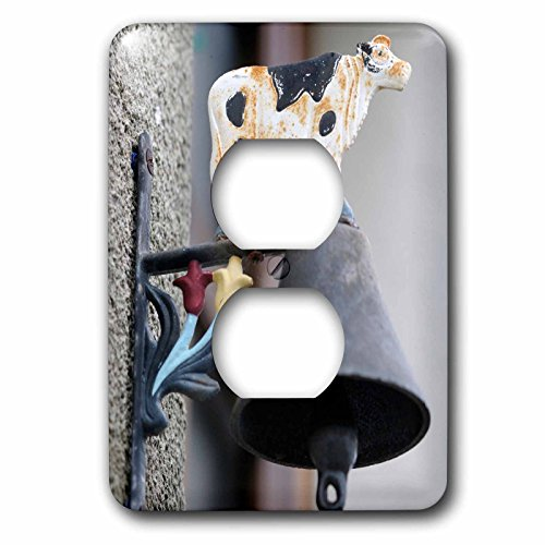 Danita Delimont - France - France, Loire. Doorbell with cow design - Light Switch Covers - 2 plug outlet cover (lsp_227238_6) by 3dRose