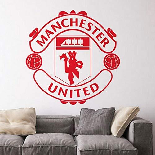 aizaixinli Football Club Logo Wall Sticker for Kids Room Bedroom Detachable Home Decal Vinyl Art Deco Mural 58 X 58 cm