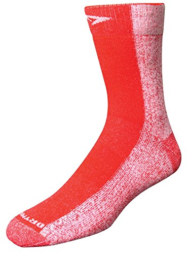 DryMax Cold Weather Run Crew, Red, M 11-13, 2 Pack by Drymax