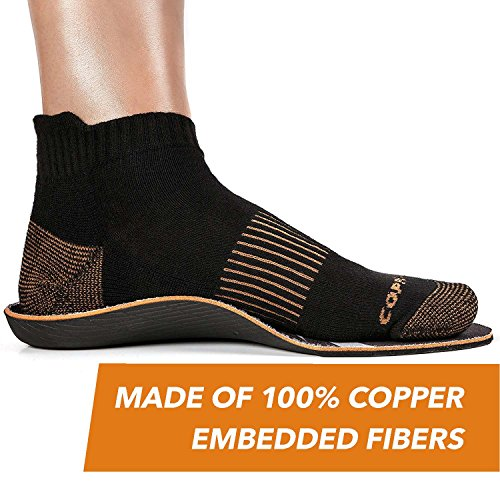 CopperJoint - Copper-Infused Orthotic Insoles, Moisture Wicking Shoe Inserts Offer Firm Arch Support to Help Relieve Foot Soreness, Pair (Large) by CopperJoint (Image #7)