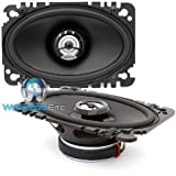 DCX 460.3 Hertz 4 x 6 Inch 2-Way 80W RMS DIECI Series Coaxial Speakers