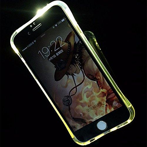 König-Shop Handy Hülle LED Licht bei Anruf für Handy Apple iPhone 6 / 6s Transparent - Bumper Case Cover