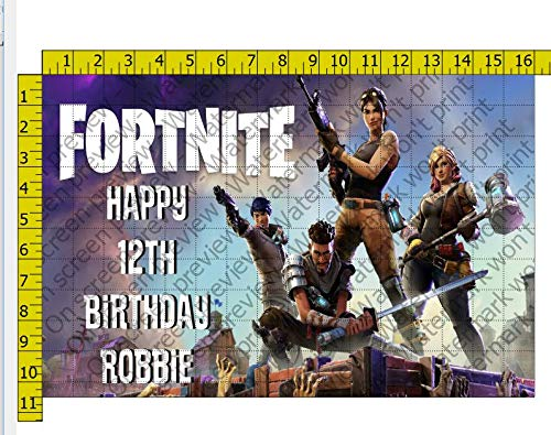 1/2 Sheet Fortnite Image Edible Frosting Cake Topper by A Birthday Place (Image #1)