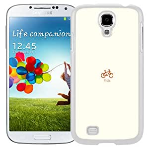 Lovely Phone Case Simple Bike Flat Minimal Galaxy S4 Wallpaper in White