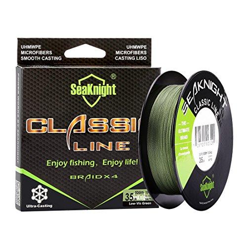 SeaKnight Classic 4 Strands Braided Fishing Line 500 m/547 yards Super...