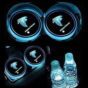 2PCS LED Cup Holder Mat Pad Coaster with USB Rechargeable Interior Decoration Light Buffalo Bills wesport NFL-American Football Collection