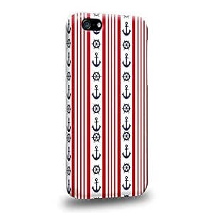 Diy iphone 5 5s case The most popular Art Nautical Striped Anchors Protective Snap-on Hard Back Case Cover for Apple iPhone 5 5S