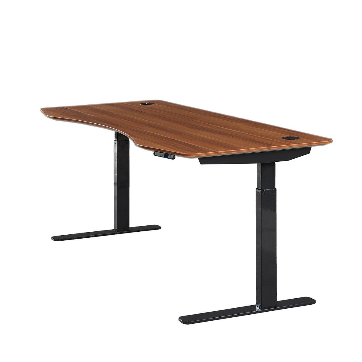 ApexDesk Elite Series 71'' W Electric Height Adjustable Standing Desk (Memory Controller, 71'' Red Apple Top, Black Frame)