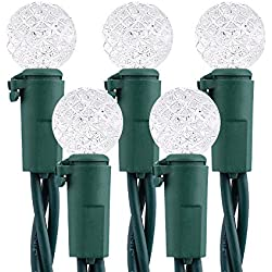 Brizled Faceted LED Christmas Lights, 50 LED 16.3ft Mini String Lights, 120V UL Certified for Indoor and Outdoor Decorations,Patio, Christmas Tree, Cool White