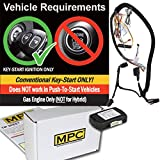 MPC Factory Remote Activated Remote Start Kit with Keyless Entry for 2010-2012 Ford Fusion - Prewired - Firmware Preloaded