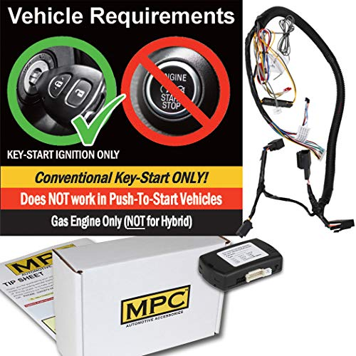 (MPC Factory Remote Activated Remote Start Kit for 2007-2010 Ford Edge - Prewired - Key-to-Start - Gas - Firmware Preloaded)
