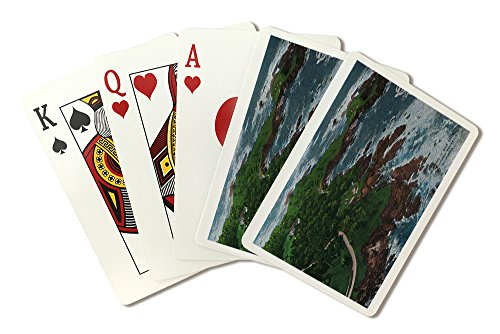 - Along 17 Mile Drive on Monterey Peninsula (Playing Card Deck - 52 Card Poker Size with Jokers)