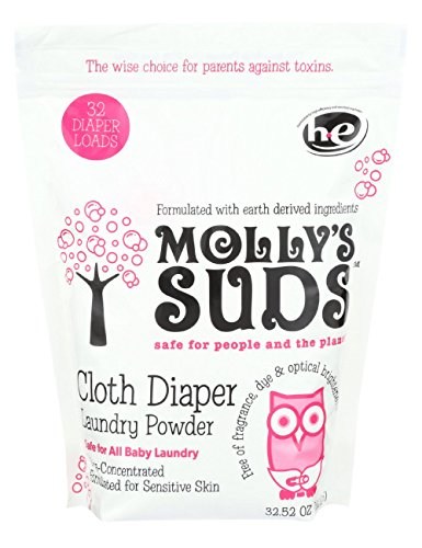 Molly's Suds Cloth Diaper Laundry Powder 32 loads- Perfect for Baby Laundry, All Natural, Free of Parabens and Harsh Chemicals