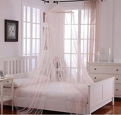 Las niñas luz rosa Hanging café dosel para cama, cama marco ...