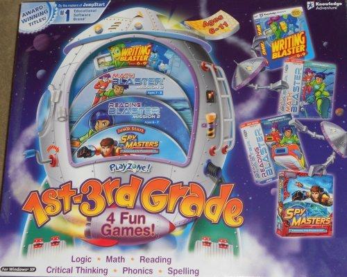 amazon com playzone 1st 3rd grade 4 fun games writing blaster
