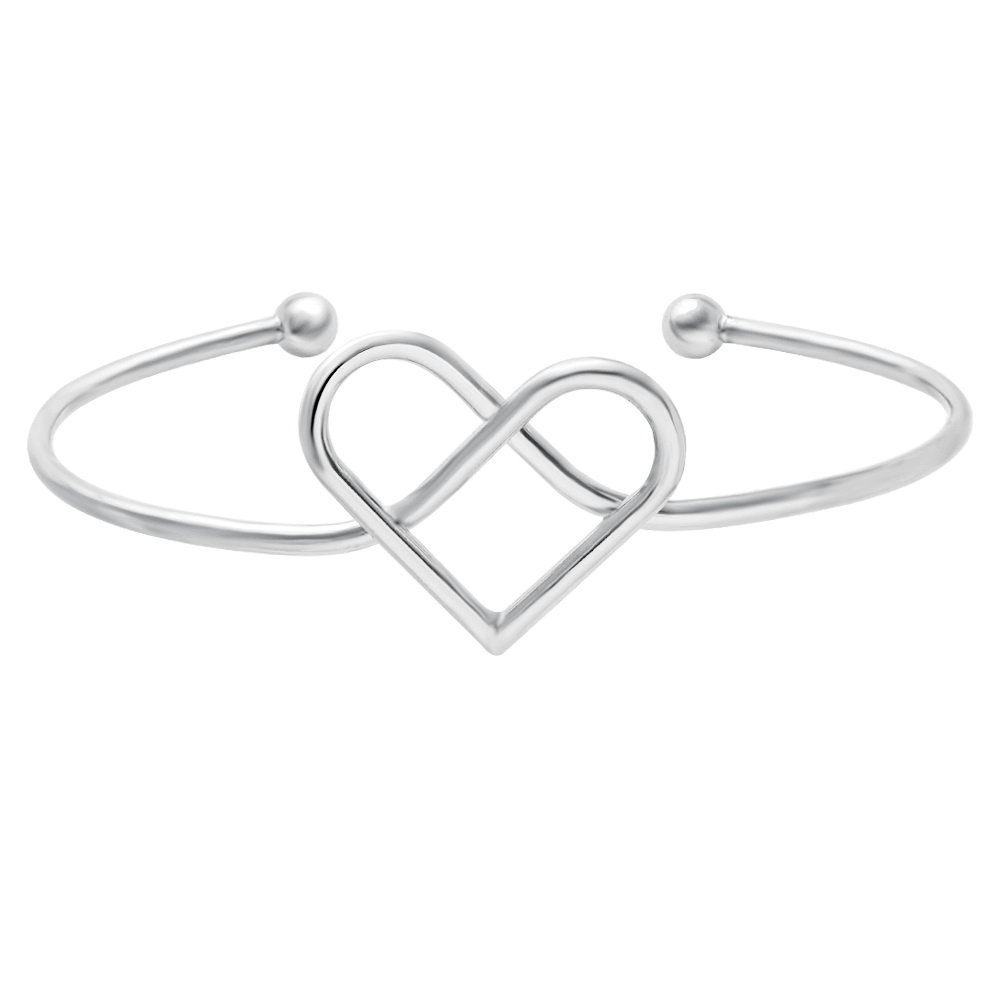 SENFAI Simple Infinity Love Adjustable Bridesmaid Bangle Bracelet Jewelry Cuff Women