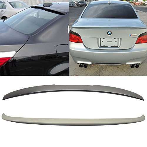 Trunk & Roof Spoiler Fits 2004-2010 BMW E60 5-Series Sedan 4Dr | AC Style ABS Rear Deck Lip Wing Bodykits by IKON MOTORSPORTS