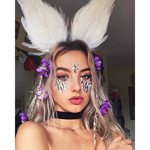 6 Pack Women Mermaid Face Gems Glitter c6663f652157